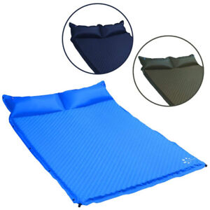 Camping Sleeping Pad Self Inflating Mat for 2 Person with Pillow