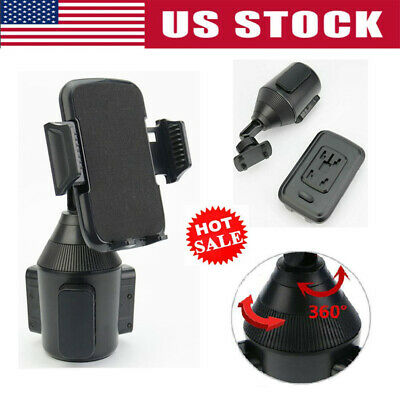 360 Degree Adjustable Car Cup Holder Stand Cradle Mount for Mobile Phone GPS US*