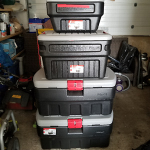 Rubbermaid Action Packer Storage Boxes Set