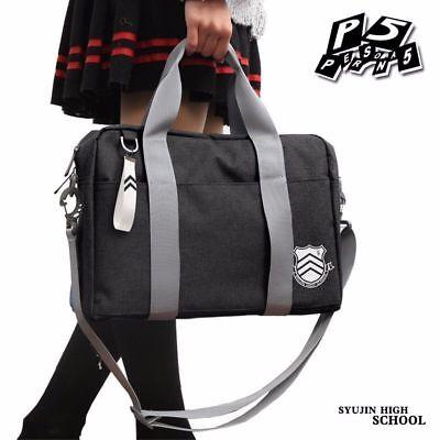 Anime Cosplay Persona 5 P5 Shujin Gakuen High School JK Bag Uniform Shoulder Bag ()