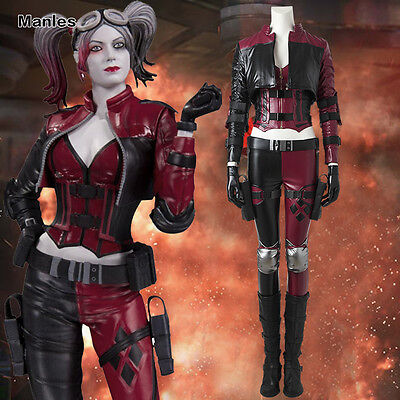 Joker Outfit For Women (Injustice 2 Miss Joker Harley Quinn Costume Cosplay Halloween Outfit Full)