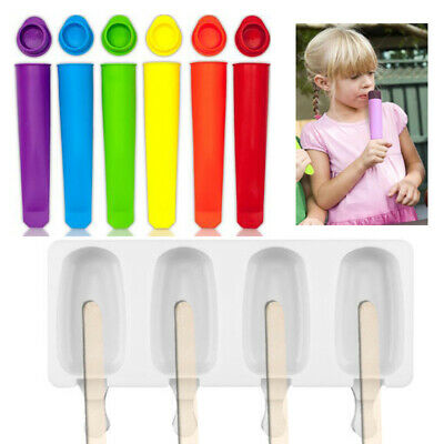Silicone Push Up Frozen Stick Ice Cream Pop Yogurt Jelly Lolly Maker Mould Molds