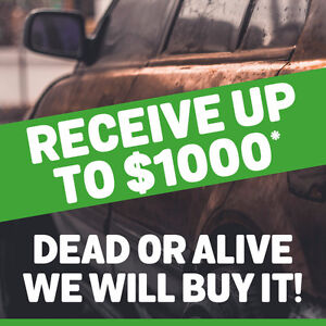 RECEIVE CASH MONEY FOR YOUR OLD CAR.