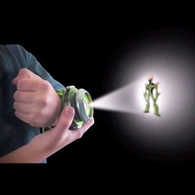 US BANDAI BEN10 Kids Watch Projector Omnitrix Alien Viewer W/ 3 Disks 30 Images Ben 10 Toys Omnitrix