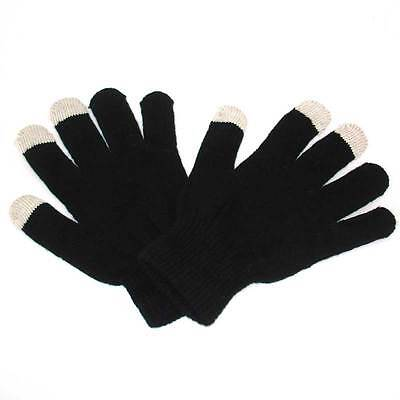 BLACK TOUCH SCREEN WINTER MAGIC UNISEX KIDS LADIES MENS GLOVES FOR PHONE - Black Gloves For Kids