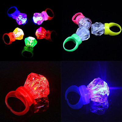 10Pcs LED Light Up Finger Ring Party Favors Glow Toys Gifts for Kids Adults](Glow Toys For Kids)