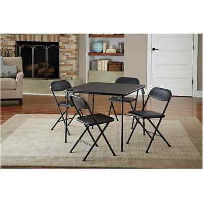 (Folding Table Chairs Set Coffee Kitchen Dining Living Room Card Game Office 5 Ps)