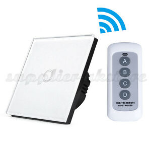 Smart Wireless Touch Home Wall Lamp Light Switch Remote Control 1Way 1 Gang EU
