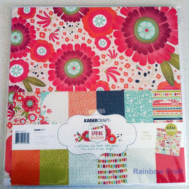 Kaisercraft Paper Pack Bonus Sticker Sheet Christmas Carol Secret garden - Spring Bloom