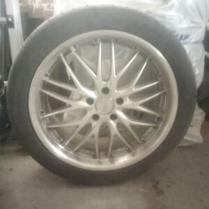 MRR Design GTI Hyper Silver Rims with Michelin 225/40ZR19 Tires