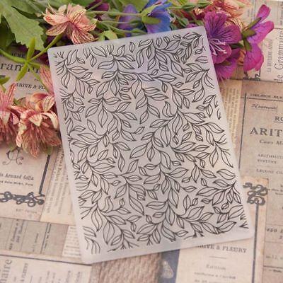 Leaves Plastic Embossing Folder Template DIY Scrapbook Paper Card Craft -
