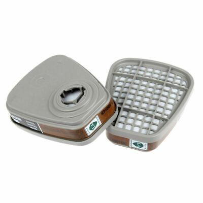2pcs 6001cn organische Dämpfe Atemschutzmasken Filtereinsatz für 3M 7502 6200 Ga