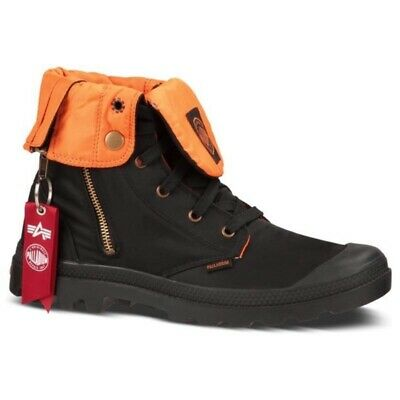 Palladium Mens Traperry/High Top Tactical Black Orange Size 7.5/womens9-9.5