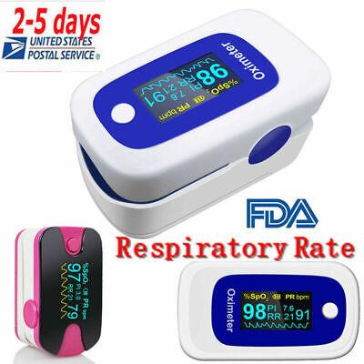 Fda Fingertip Pulse Oximeter Spo2 Sensor Pr Pi Respiration Rate Monitoralarm Ce