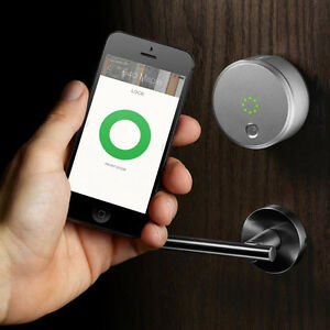 August Smart Lock HomeKit-Enabled - Silver Kitchener / Waterloo Kitchener Area image 1