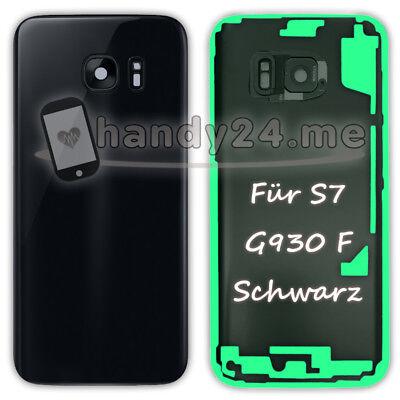 Akkudeckel Für Samsung Galaxy S7 SM-G930F G930F Backcover ● Schwarz + Kleber