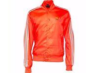 ADIDAS ORIGINALS X PHARRELL WILLIAMS * Track Jacket *Orange * New * Medium