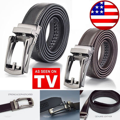 COMFORT CLICK Leather Belt Automatic Adjustable Xmas Men Gift As Seen On TV