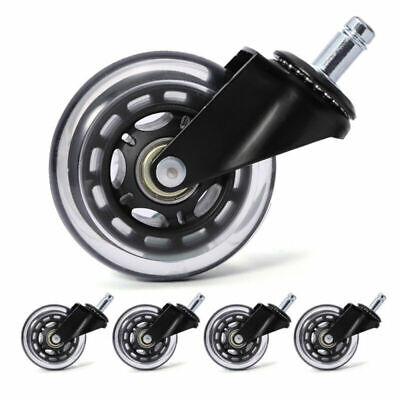 Office Chair Caster Wheels Soft Caster Floor Protect Chair Rollers 360 Rotation