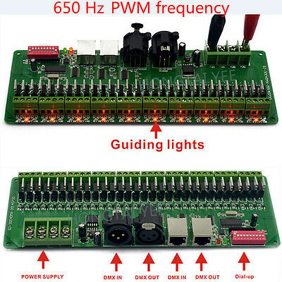 30channel27ch Easy Dmx Led Rgb Controller Dmx Decoder&driver Rgb Led Controller