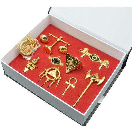 Yu-Gi-Oh! Millennium Puzzle Badge Ring Necklace Pendant Keychain 8pcs Xmas Gift