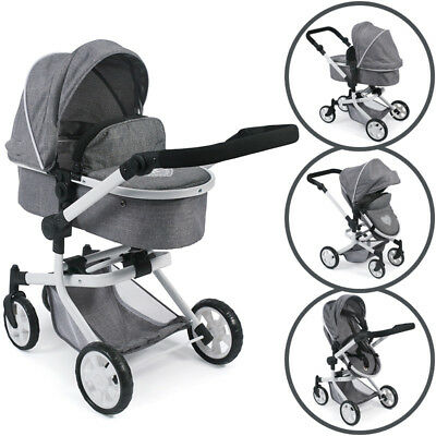 Bayer Chic 2000 Puppenwagen Mika 2in1 (Jeans Grey)