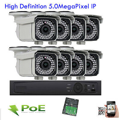 8Ch Network NVR ONVIF 5MP 66IR 2.8-12mm Vari-focal Zoom Security Camera System