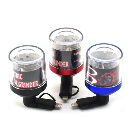 USB Electric Herb & Tobacco Grinder Powered By SMARTPHONES