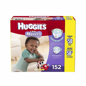 Brand New Huggies Little Movers Diapers, Step 4, 152-Count