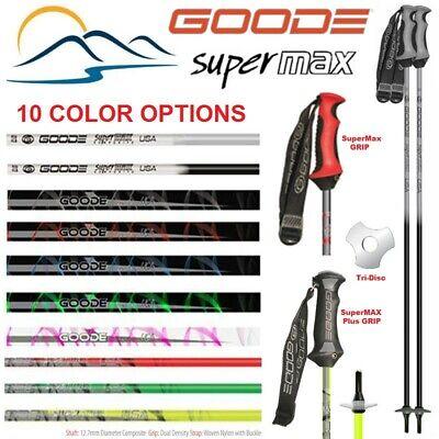 Ski Poles- 2020 Goode Super Max Fiber Composite Ski Poles Premium -