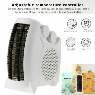Heater Thermostat - Portable Silent Electric Fan Heater Thermostat Flat/Upright with Indicator US