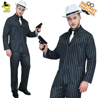 Adult Men's 20's Gangster Luxury Costume Slim Fit Outfit Movie Star - 20s Mens Costumes