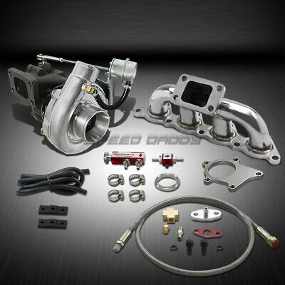 Used, T04 .63AR 400+HP BOOST 5PC TURBO CHARGER+MANIFOLD KIT FOR MIT MIRAGE 1.8L 4G93 for sale  Shipping to South Africa