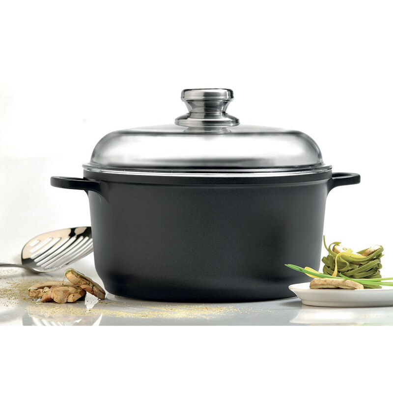 """Eurocast Professional Cookware 8"""" 2.6L Stock Pot with Glass"""