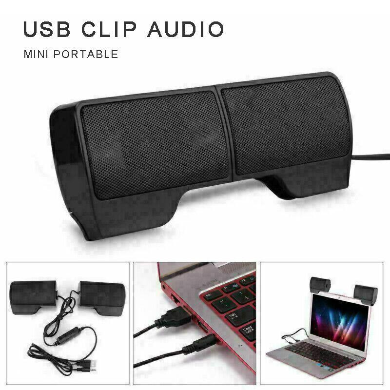 adjustable mini speaker usb clip on computer