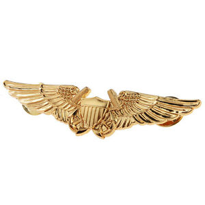 US-USMC-AVIATION-OFFICER-PILOT-GOLD-WING-BADGE-PIN-BADGE-33620