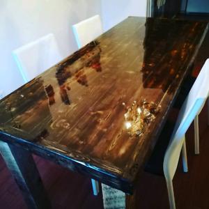 Table de cuisine de luxe