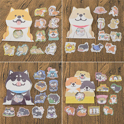 Cute Shiba inu Puppy Dog Scrapbook Stickers Husky Akita Craft For Children Gifts