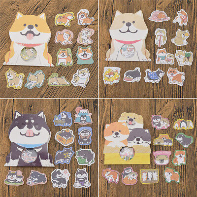 Cute Shiba inu Puppy Dog Scrapbook Stickers Husky Akita Craft For Children - Dog Craft