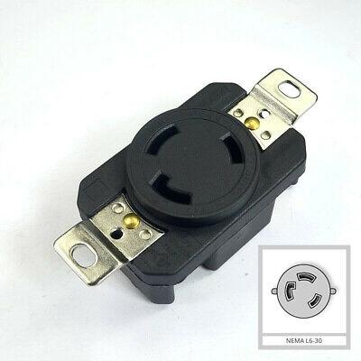 NEMA L6-30R 30A 250V L630C Female Twist Lock 3 Wire Power Locking Receptacle