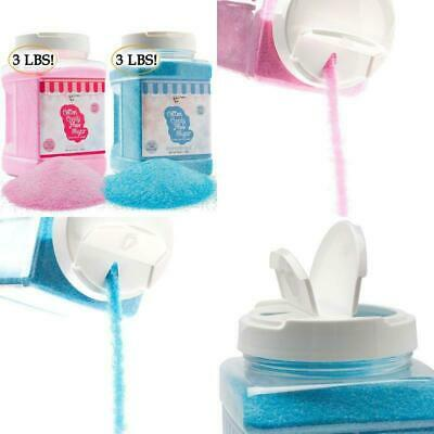 The Candery Cotton Candy Floss Sugar 2-pack Raspberry Blue And Strawberry