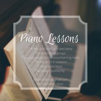 Piano Lessons In your own home!