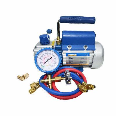 Pump Rotary Vane Deep Vacuum 150w R410a 2pa 2.12cfm Ac Hvac Tool Air Condition