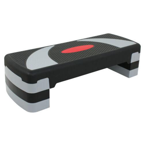 30″ Adjustable Aerobic Step Fitness Stepper 4 6 8 Three Height Levels Fitness Equipment & Gear