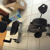Recumbent Exercise bike and bench with some weights* best offer*