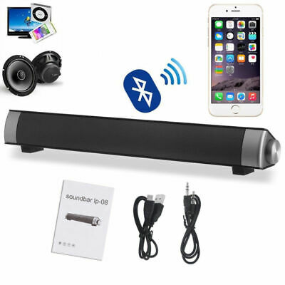 Inalámbrico Bluetooth Soundbar TV Altavoz estéreo Radio FM Home Theater