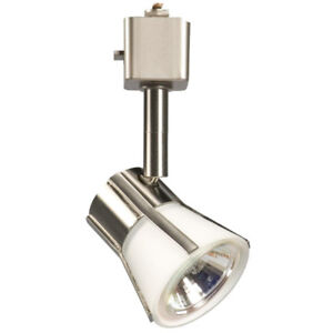 Ceiling Mounted Light For Sale (brushed nickel & white glass)