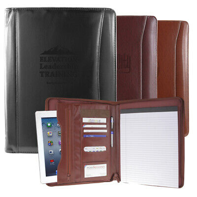 Professional Leather Padfolio Portfolio Organizer Resume Folder 3 Colors