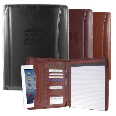 Professional Leather Padfolio Portfolio Organizer Resume Folder 3 Colors
