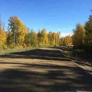 4 country acreages,10 min east of Dawson
